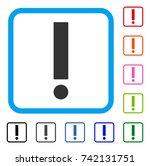 exclamation sign icon. flat... | Shutterstock .eps vector #742131751