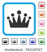 crown icon. flat gray pictogram ...