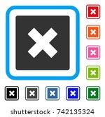 close icon. flat gray pictogram ...