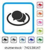 chat icon. flat grey pictogram...