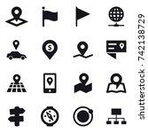 16 vector icon set   pointer ... | Shutterstock .eps vector #742138729
