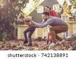 go run and have fun. happy...   Shutterstock . vector #742138891