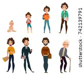 life cycle of men including... | Shutterstock .eps vector #742139791