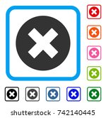 cancel icon. flat grey iconic... | Shutterstock .eps vector #742140445