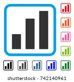 bar chart icon. flat grey...