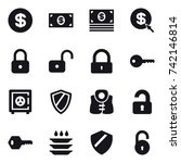 16 vector icon set   dollar ... | Shutterstock .eps vector #742146814