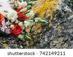 wedding bouquet about wedding... | Shutterstock . vector #742149211