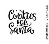 cookies for santa. christmas... | Shutterstock .eps vector #742149331