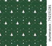 white illustration christmas... | Shutterstock .eps vector #742151281