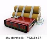 detonator isolated on white background - stock photo