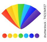 fan of rainbow colors. rainbow... | Shutterstock .eps vector #742156927