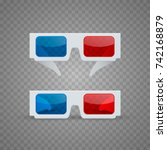 3d glasses object set on a... | Shutterstock .eps vector #742168879