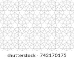abstract pattern in arabian... | Shutterstock . vector #742170175