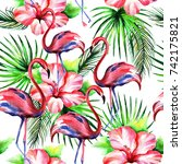 watercolor seamless pattern of... | Shutterstock . vector #742175821