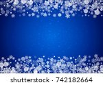 snow frame with white... | Shutterstock .eps vector #742182664