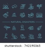 natural disaster  vector... | Shutterstock .eps vector #742190365