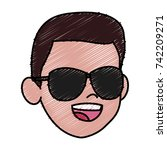 boy faceless cartoon | Shutterstock .eps vector #742209271
