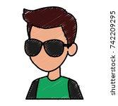boy faceless cartoon | Shutterstock .eps vector #742209295