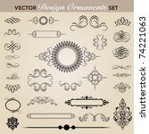 set of decorative ornaments.... | Shutterstock .eps vector #74221063