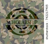 scholarship on camouflage... | Shutterstock .eps vector #742217905