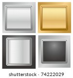 four glossy metallic plates on... | Shutterstock .eps vector #74222029