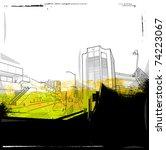 urban background collage | Shutterstock .eps vector #74223067