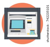 atm vector icon  | Shutterstock .eps vector #742235101