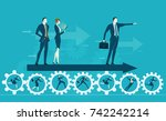 business men showing direction... | Shutterstock .eps vector #742242214