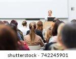 business and entrepreneurship... | Shutterstock . vector #742245901
