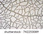dry soid after flood. crack... | Shutterstock . vector #742253089