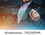 automation software technology... | Shutterstock . vector #742265599