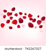 Stock vector background of naturalistic rose petals vector illustration eps 742267327