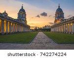 london   greenwich   old naval... | Shutterstock . vector #742274224