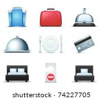 hotel icons | Shutterstock .eps vector #74227705