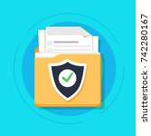 document protection concept ... | Shutterstock .eps vector #742280167
