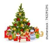 vector christmas fir tree