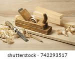 carpentry concept.joiner... | Shutterstock . vector #742293517