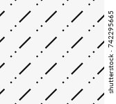 vector seamless pattern.... | Shutterstock .eps vector #742295665