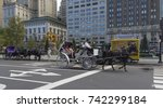 27 sep 2017. carriage rides... | Shutterstock . vector #742299184