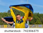 Small photo of September 25, 2017. Toronto, Canada - Ukrainian athletes during the Invictus Games competition at York Stadium in Toronto, Canada.