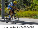 Small photo of September 26, 2017. Toronto, Canada - Ukrainian cyclist Serhii Molodid, during Men's Road Cycling IRB3 Time Trial - Final Toronto Invictus Cycling at High Park in Toronto, ON, Canada.