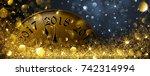 new year's eve 2018. vector... | Shutterstock .eps vector #742314994