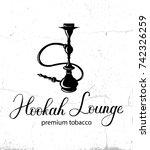 hookah vector logo design on... | Shutterstock .eps vector #742326259