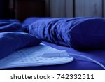 electric heating blanket on a... | Shutterstock . vector #742332511
