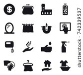 16 vector icon set   dollar ...   Shutterstock .eps vector #742339537