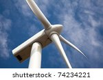 low angle view of wind turbine... | Shutterstock . vector #74234221