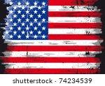 Us Grunge flag A used patriotic US Flag - stock vector