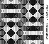 seamless pattern with black... | Shutterstock .eps vector #742352569