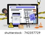 web design and development.... | Shutterstock .eps vector #742357729