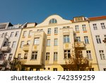 renovated houses in a street at ... | Shutterstock . vector #742359259